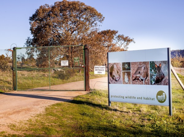Mount Rothwell sanctuary entrance