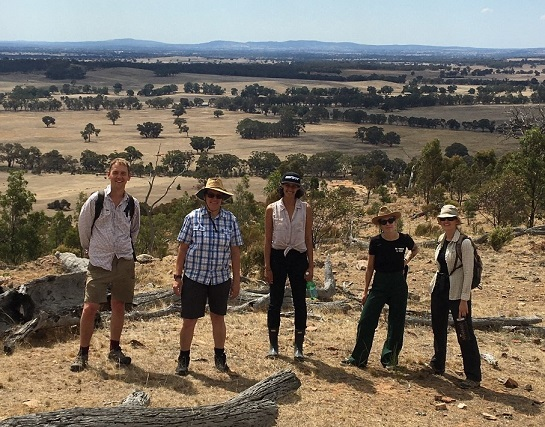 The team at Vegetation Link on a field trip at a covenented site.